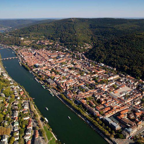 Luftbild von Heidelberg Baden-Württemberg aerial photograph  of Heidelberg Germany
